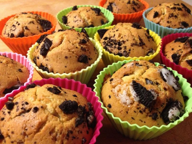Muffins de mascarpone y oreo