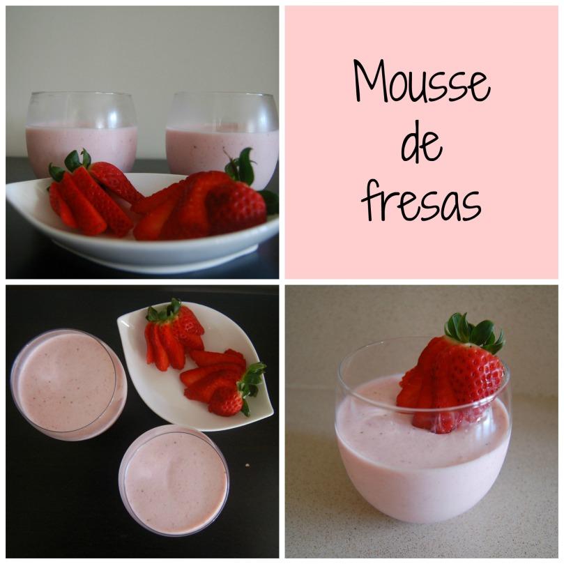 Mousse de fresas Pantone