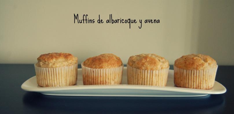 Muffins de albaricoque y avena