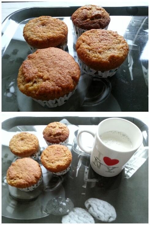 Muffins zanahoria y nueces