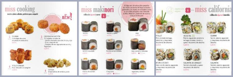 Miss Sushi carta
