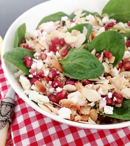 ensalada quinoa granada